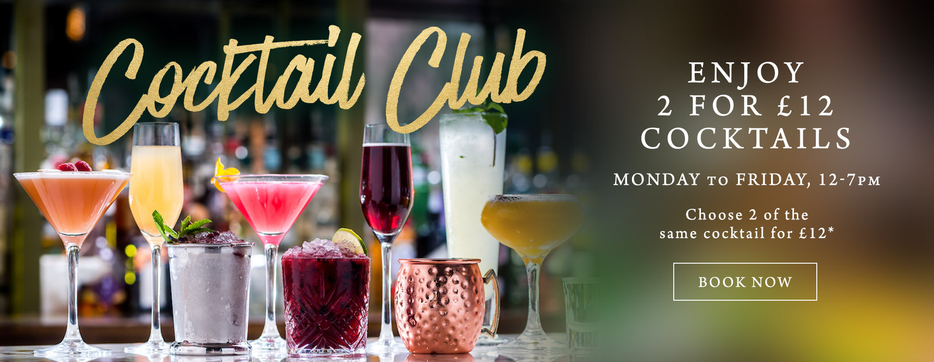 2 for £12 cocktails at The Inn at Maybury